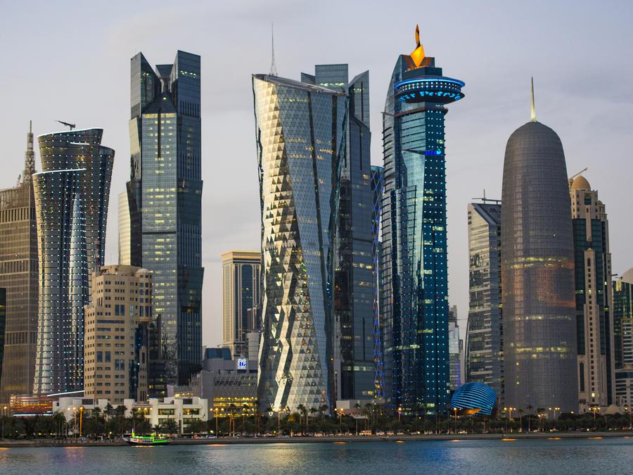 Centro urbano en Doha, Qatar