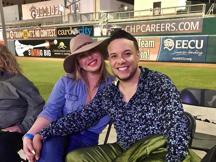 Chiquis Rivera y Lorenzo Méndez juntos.
