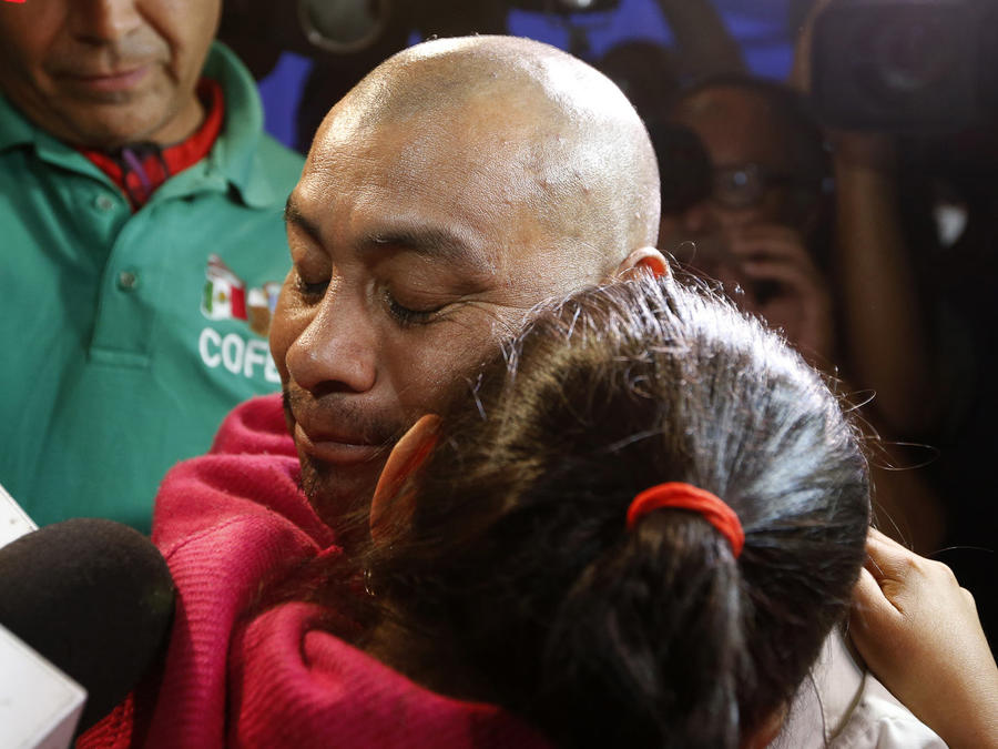 Jersey Vargas greets her father at Los Angeles airport