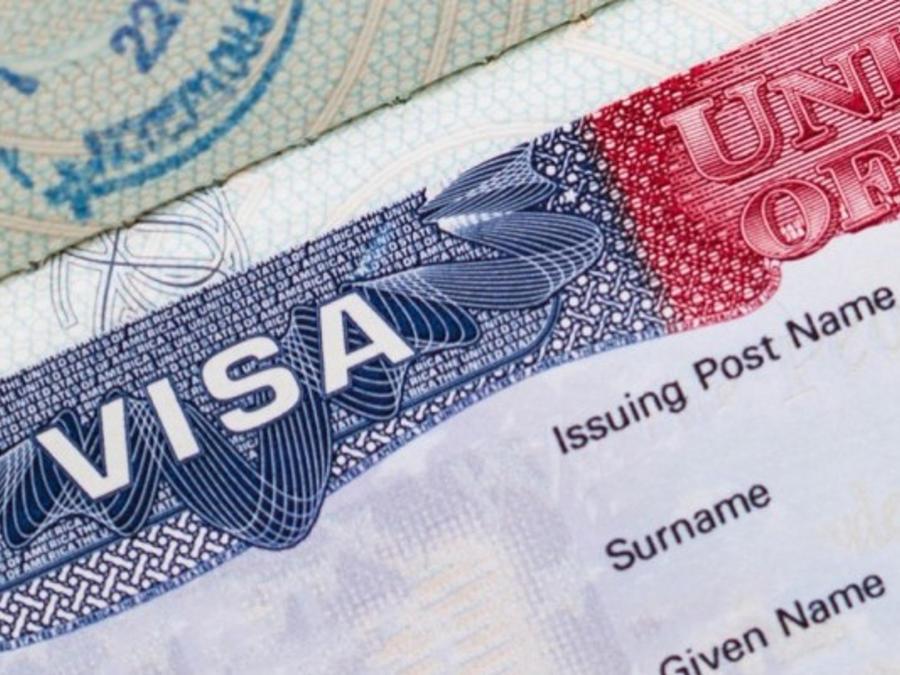Foto de visa estadounidense