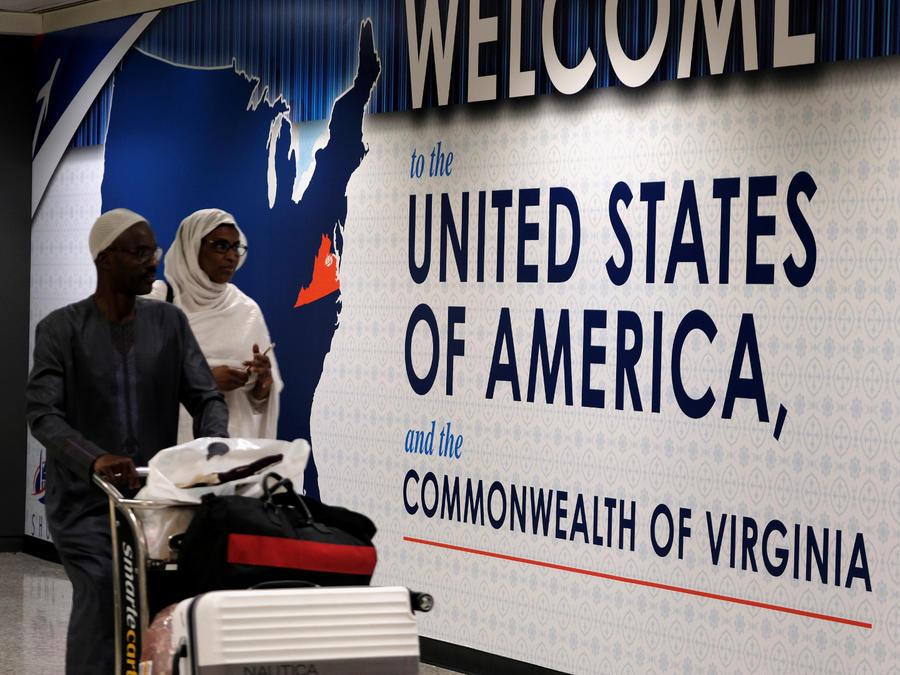 Cartel da la bienvenida a territorio de EEUU
