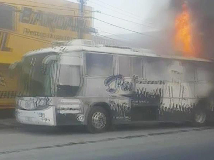 incendio de autobus