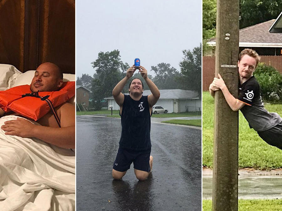 Con humor enfrentaron al huracán Irma