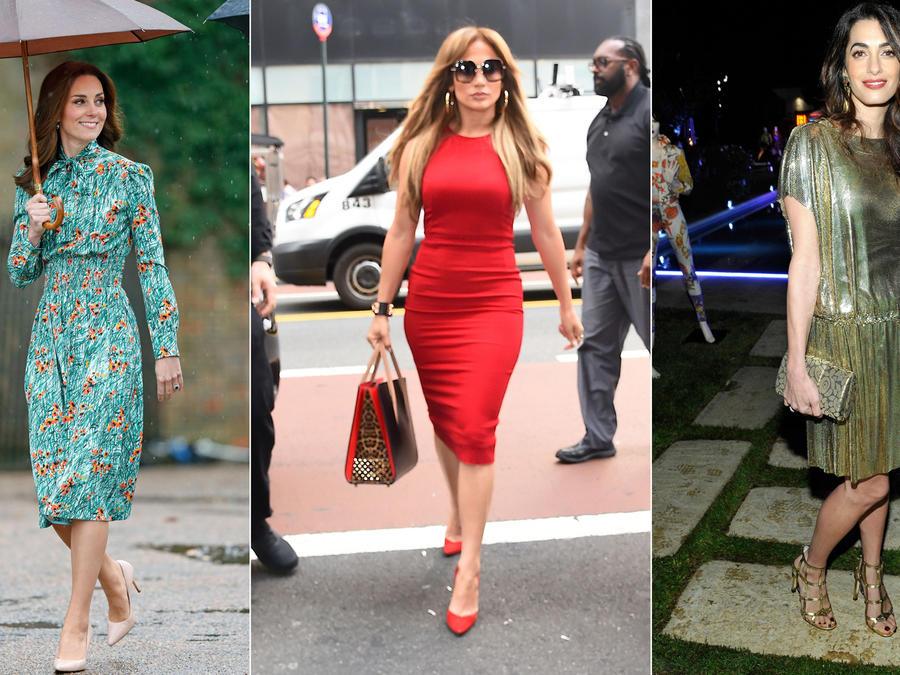 Kate Middleton, Jennifer Lopez y Amal Clooney collage