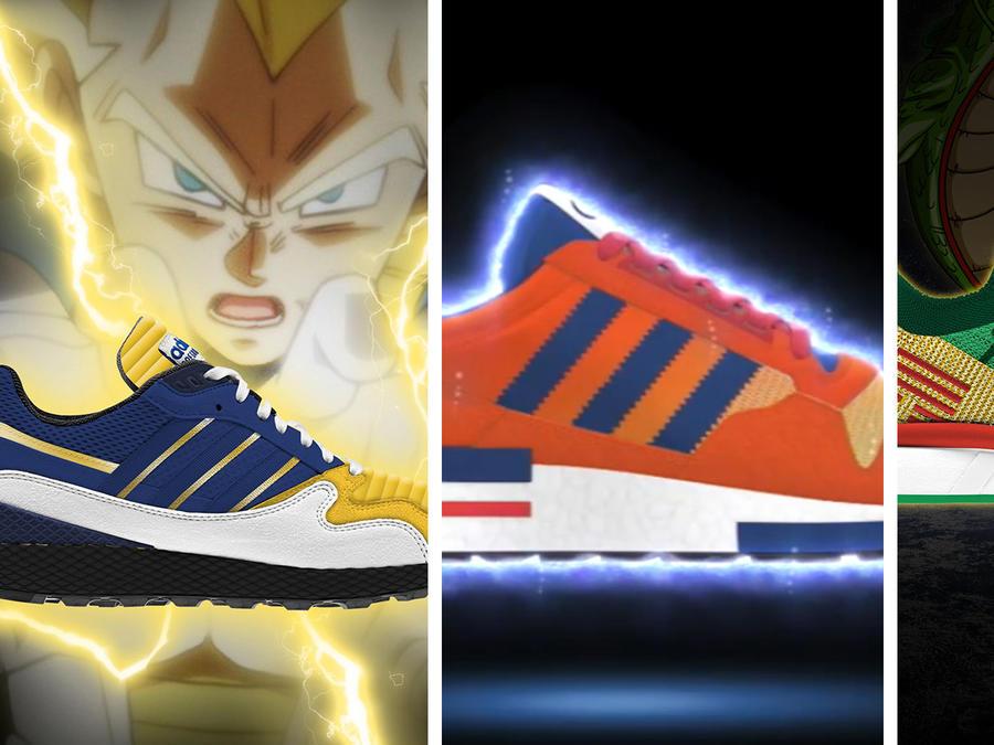 Así serían los modelos de las zapatillas de Dragon Ball