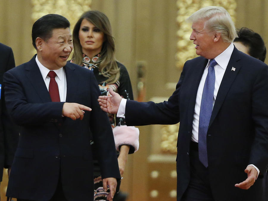 El president Donald Trump y su homólogo de china, Xi Jinping, en Beijing, China, en noviembre de 2017.