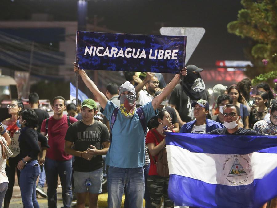 Foto de archivo de protestas en Nicaragua el sábado 21 de abril de 2018
