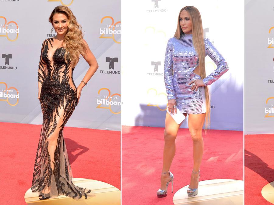 Aracely Arámbula, Jennifer Lopez y Gaby Espino en los Premios Billboard 2018
