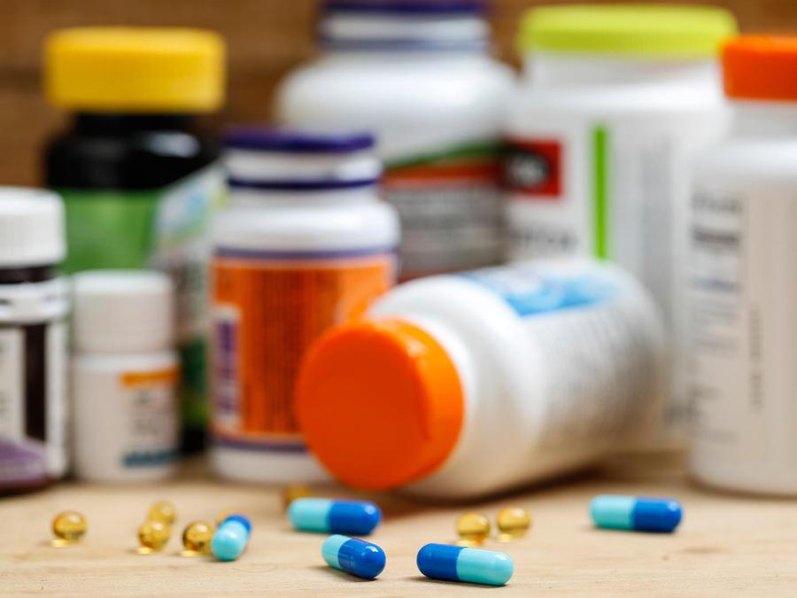 Frascos de medicinas