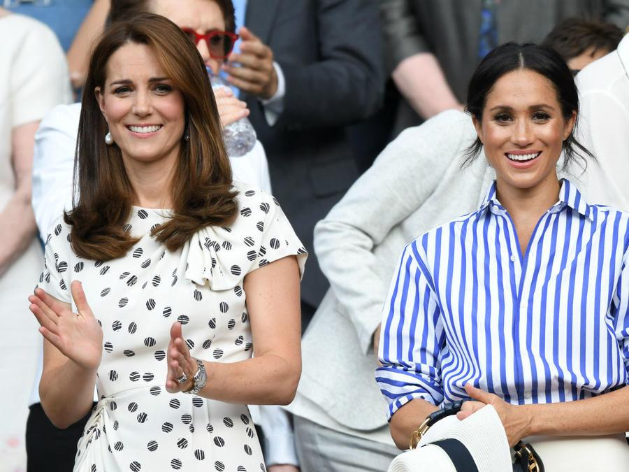 Meghan Markle y Kate Middleton en Wimbledon