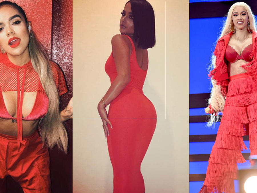 Becky G, Cardi B and other celebrities prove that red is the hottest color (PHOTOS)