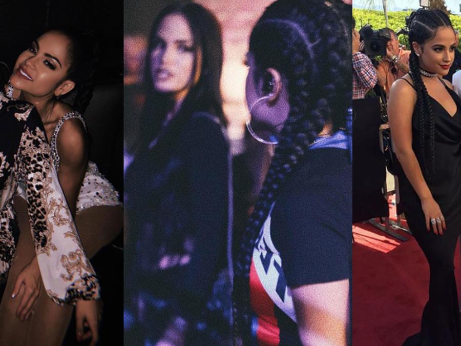 Collage Becky G y Natti Natasha