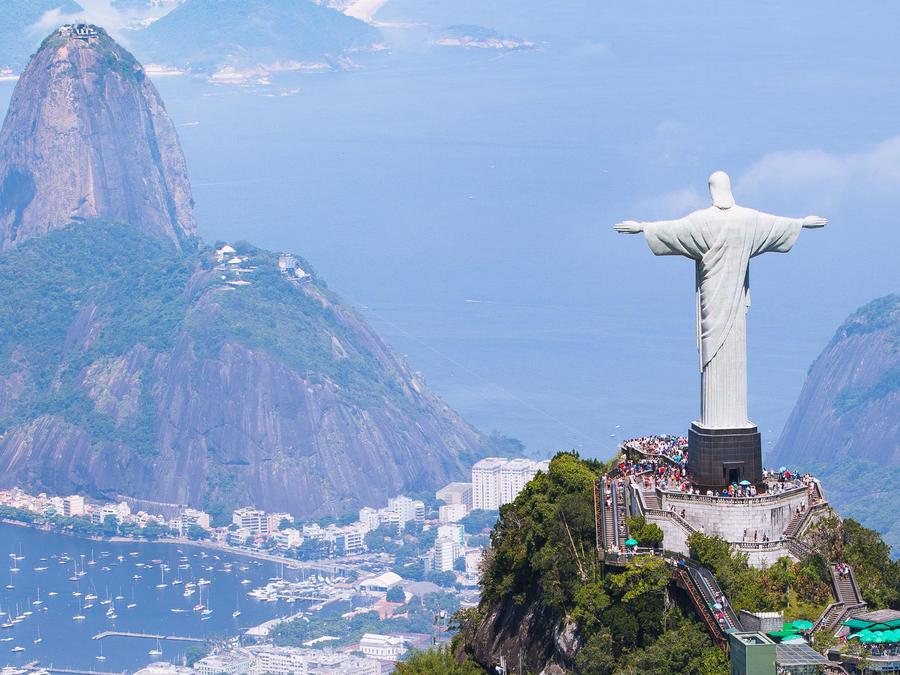 Vista aérea del Cristo Redentor