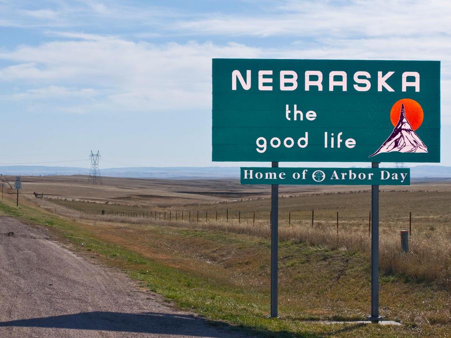 Cartel de bienvenida a Nebraska