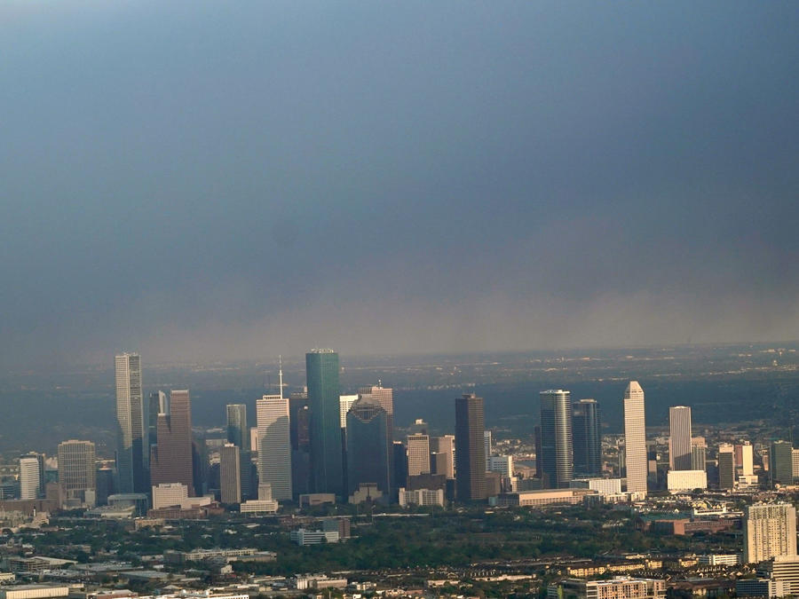 Aire contaminado en la ciudad de Houston en Texas