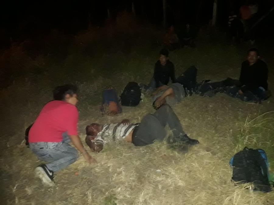 Trailer con migrantes accidentado en Veracruz