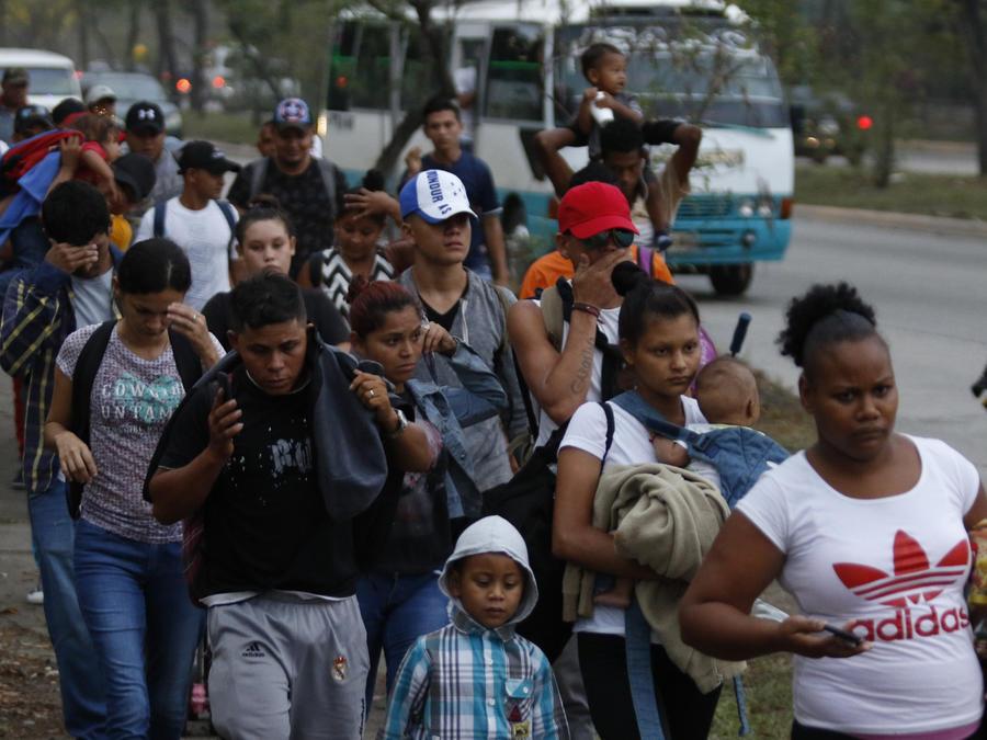 Inmigrantes en la frontera