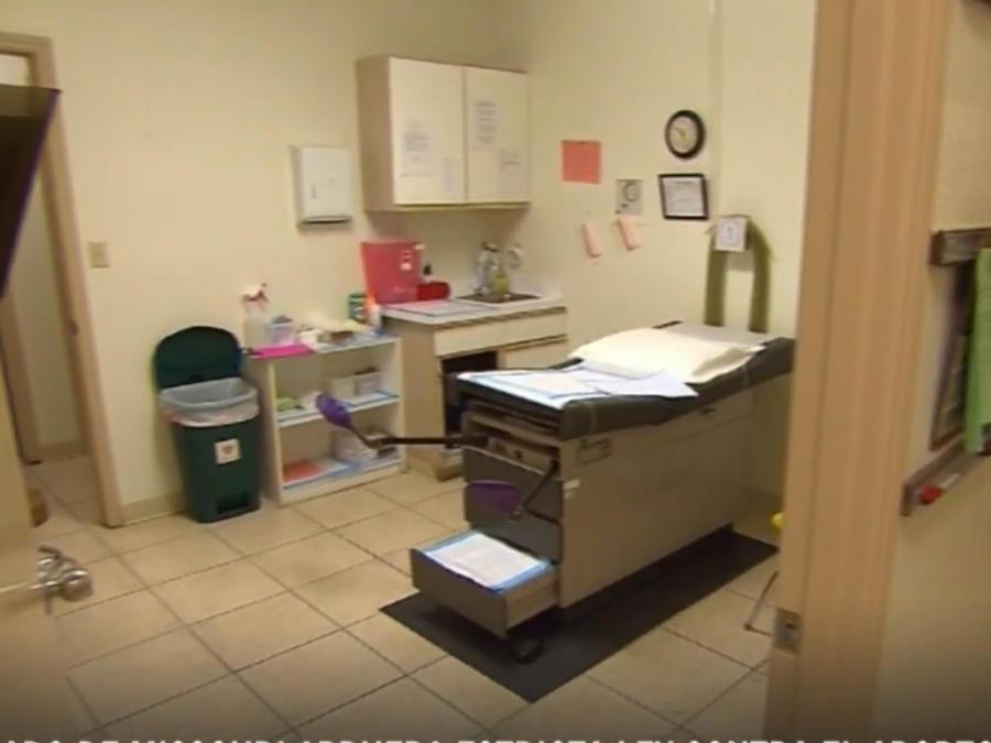 Una sala de un hospital en una foto de archivo.