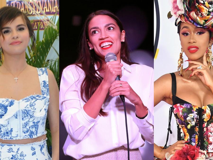 Selena Gomez, Alexandria Ocasio y Cardi B