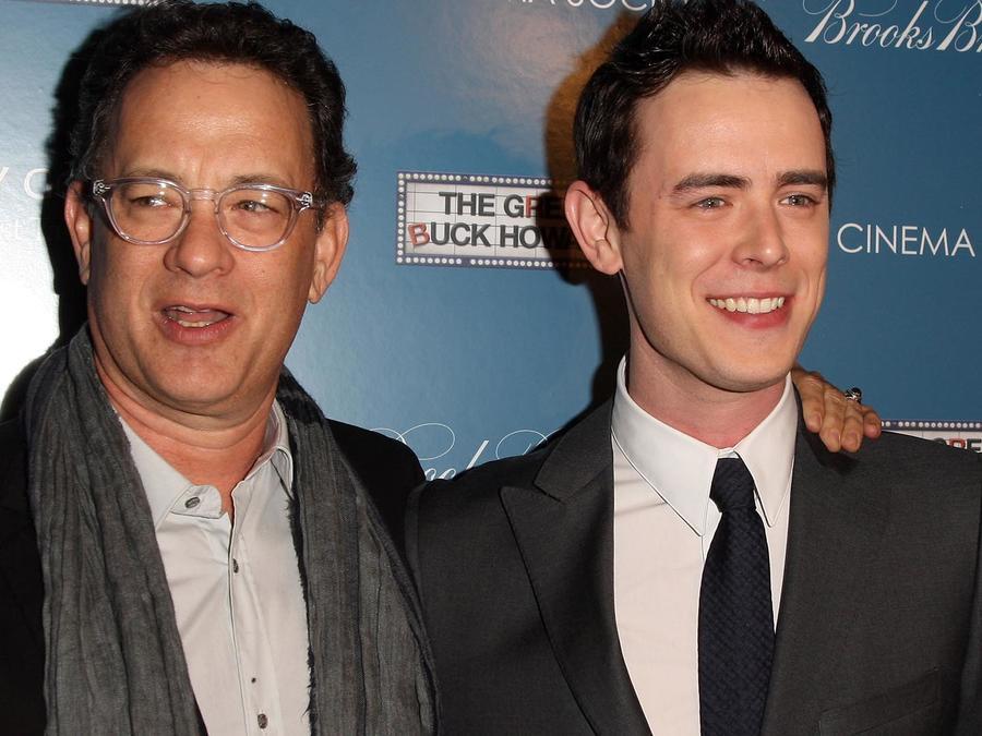 """Tom Hanks y Colin Hanks en el estreno de """"The Great Buck Howard"""""""