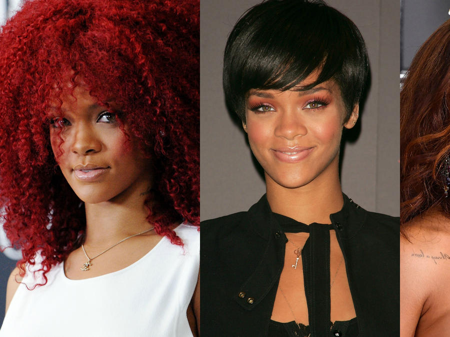 Rihanna con looks distintos