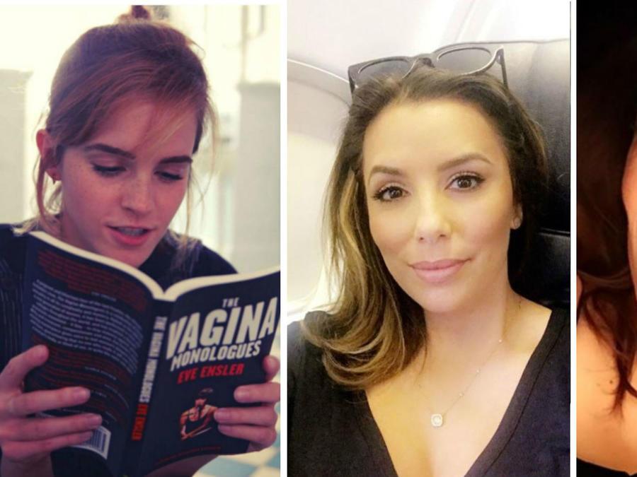 Emma Watson leyendo un libro y Eva Longoria y Samla Hayek en selfies