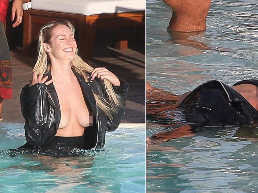 Candice Swanepoel posa topless en Brasil