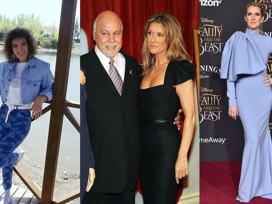 Collage de fotos de Céline Dion.