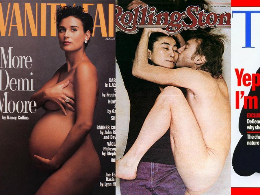 Collage de fotos de portadas icónicas de revistas