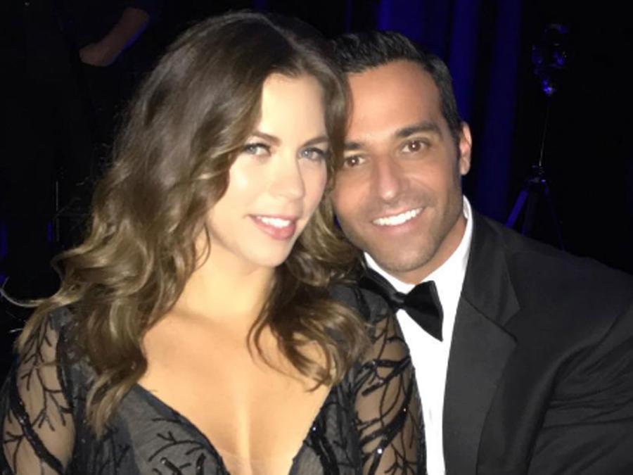 Ximena Duque y Jay Adkins de gala