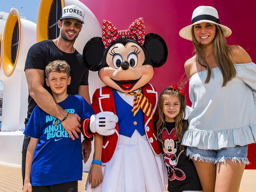 Actor William Levy Vacations With His Family Aboard the Disney Dream