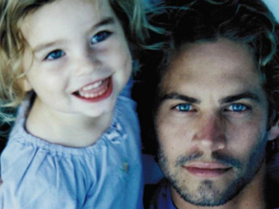 Paul Walker con su hija