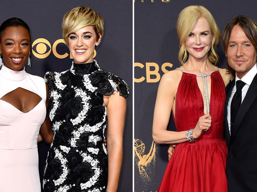 Collage parejas Emmy Awards 2017