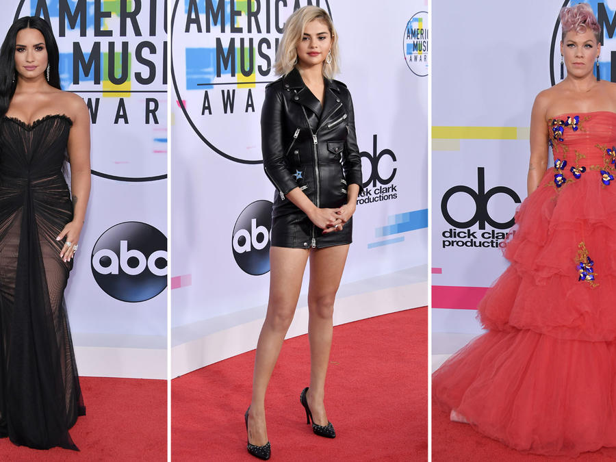 Collage looks AMAs 2017