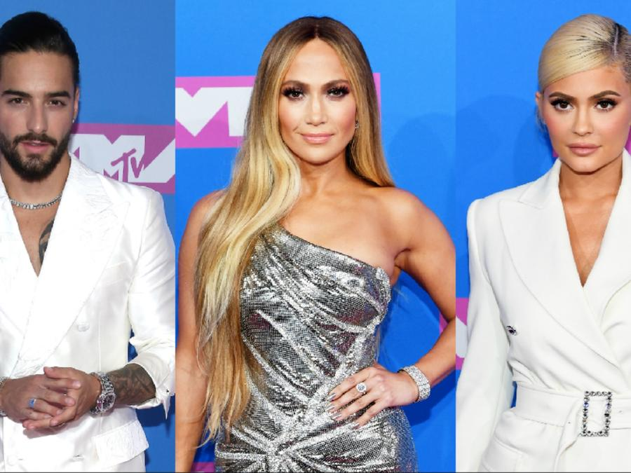Maluma, JLo, Kylie at VMAs