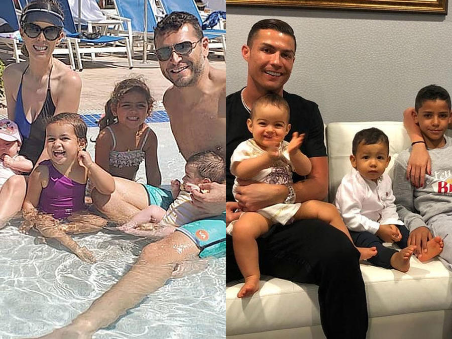Familia de Jacky Bracamontes y Cristiano Ronaldo