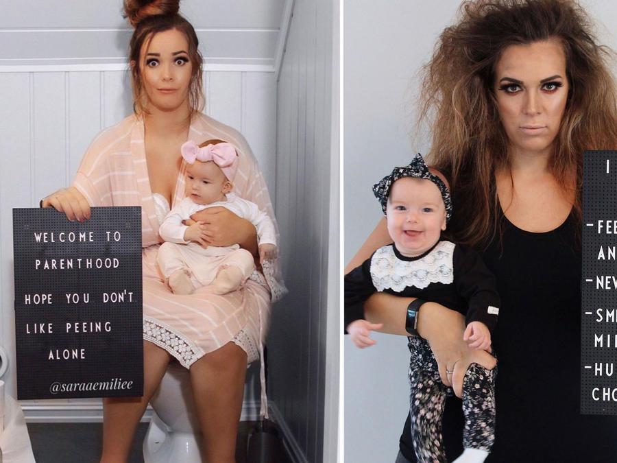 Fotos graciosas sobre maternidad