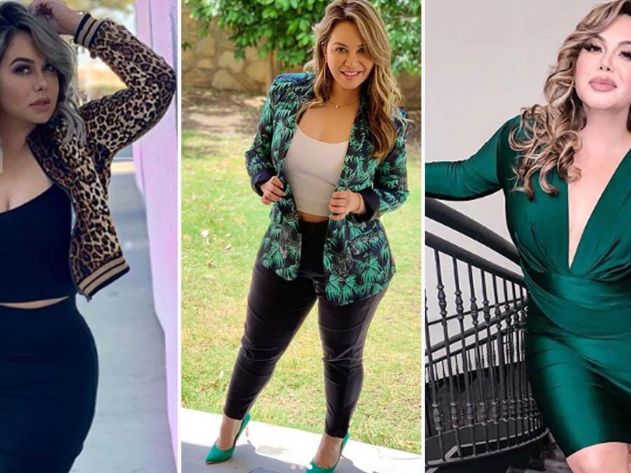 Collage Chiquis Rivera looks