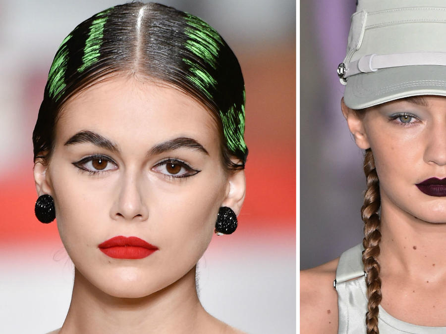 Kaia Gerber y Gigi Hadid en la Milan Fashion Week 2019