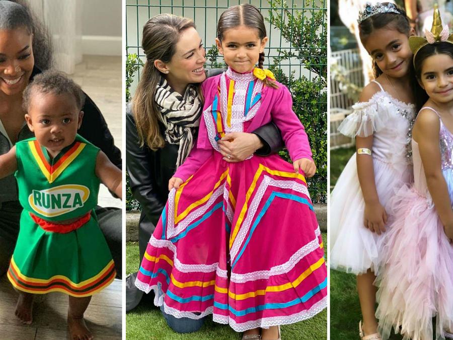 Hijas de Gabrielle Union, Jacky Bracamontes y Eugenio Derbez disfrazadas
