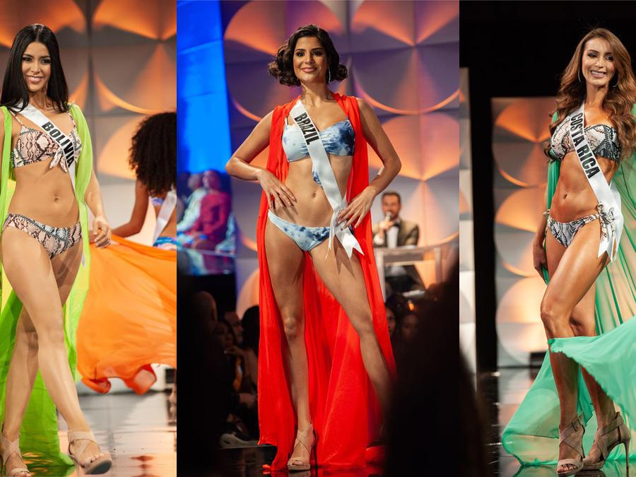 Las latinas lucieron en la prueba de traje de baño de las preliminares de Miss Universo 2019
