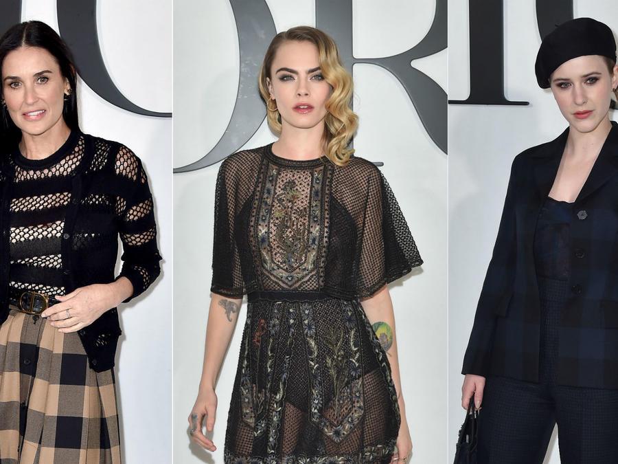 Demi Moore, Cara Delevingne, Rachel Brosnahan, Paris Fashion Week 2020, desfile Dior