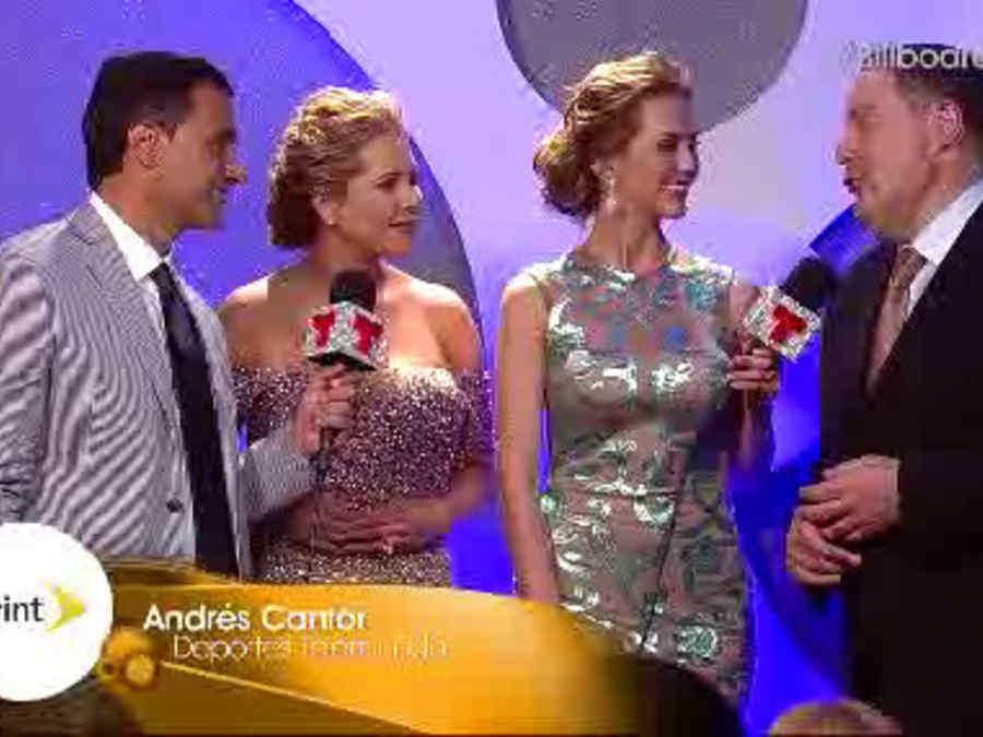 Ana María Canseco y Andrés Cantor nos hablan en los Premios Billboard 2014