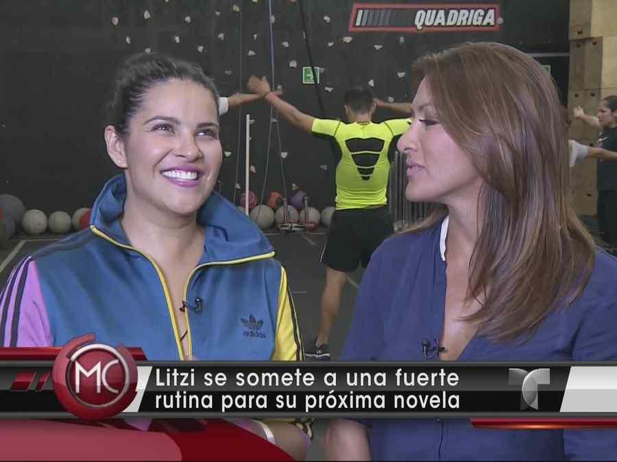 Litzy en entrevista para Al Rojo Vivo con Azucena Cierco