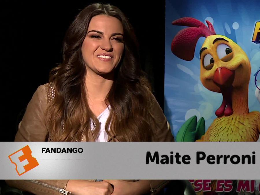 """Entrevista con Maite Perroni de la película """"Un gallo con muchos huevos""""."""