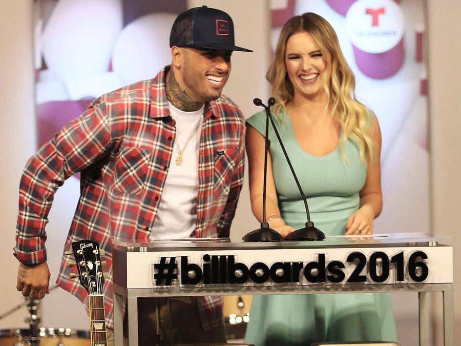 Nicky Jam en la conferencia de prensa de Premios Billboard 2016