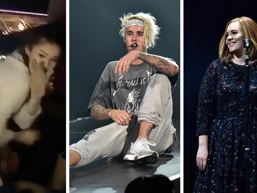 Selena Gomez, Justin Bieber y Adele