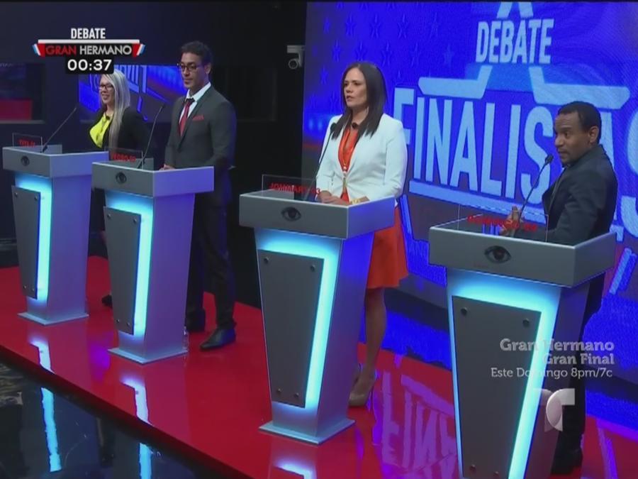 Cuatro finalistas en debate de Gran Hermano