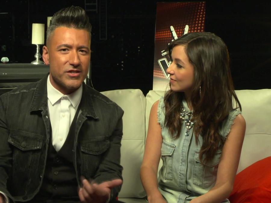 Jorge Bernal y Caeli en entrevista para La Voz Kids