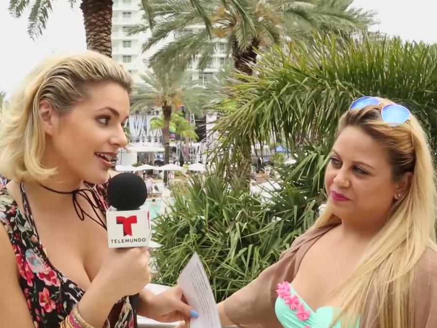 Isabella Castillo en iHeart Radio's Pool Party
